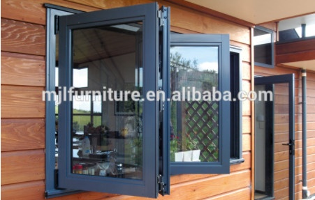 Aluminum glass panel folding window/ bifold window
