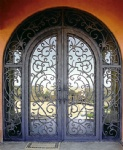 Wrought iron door
