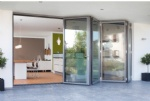aluminum double glass folding doors on sale